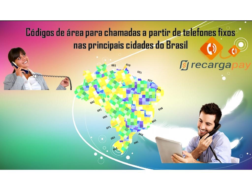 Os códigos de área para chamadas de telefone nas principais cidades do Brasil