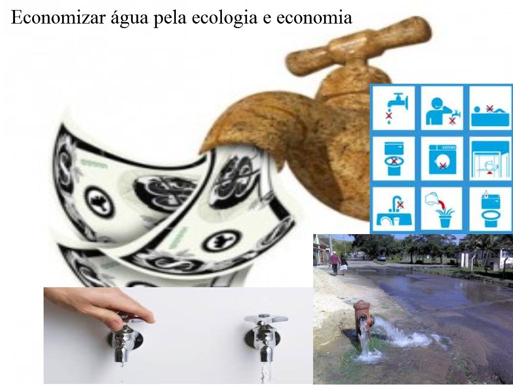 Economizar água pela ecologia e economia
