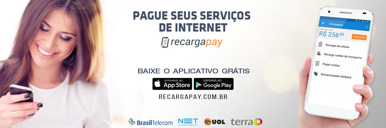 Pague suas contas de internet com recargapay