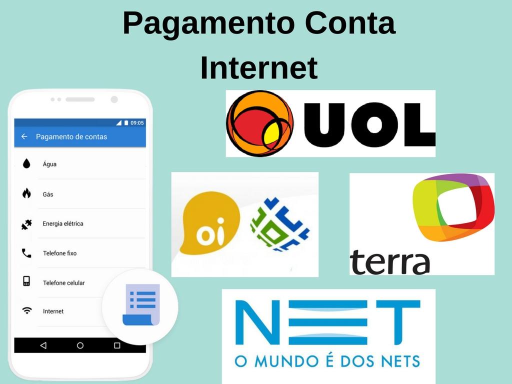 Pague suas contas internet com app recargapay pelo celular