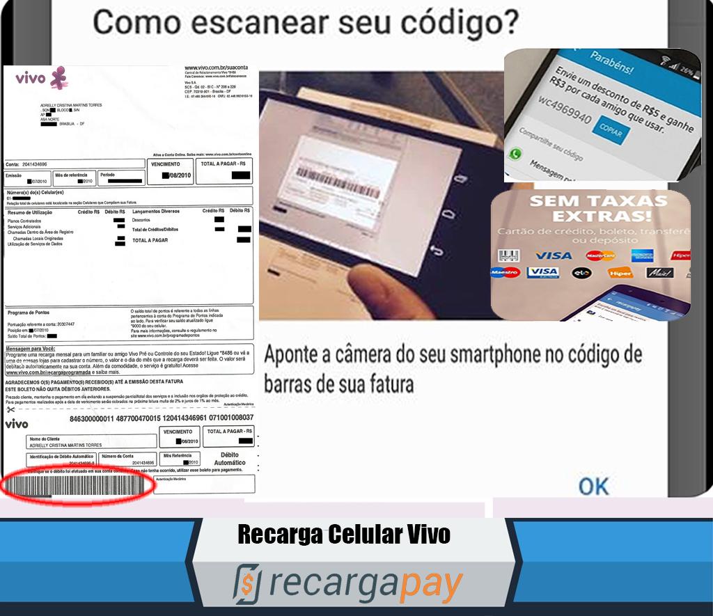 Como pagar a sua conta Vivo a partir de seu telefone com RecargaPay?