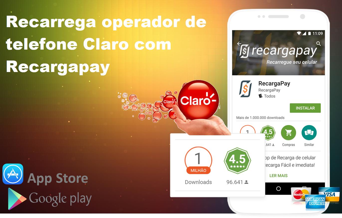 5 passos para fazer pagamento em seu telefone claro com Recargapay
