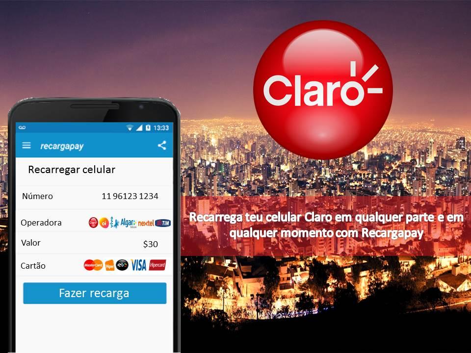 Aplicativo para recarregar seu saldo Claro em Belo Horizonte