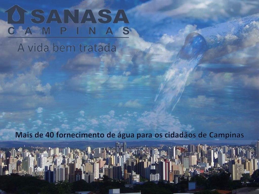 Lucros de SANASA na cidade de Campinas em São Paulo.