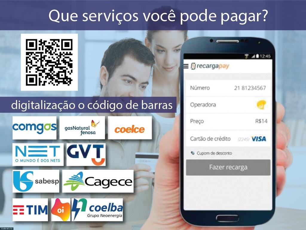 Faturas que você pode pagar digitalização pelo celular e pagar