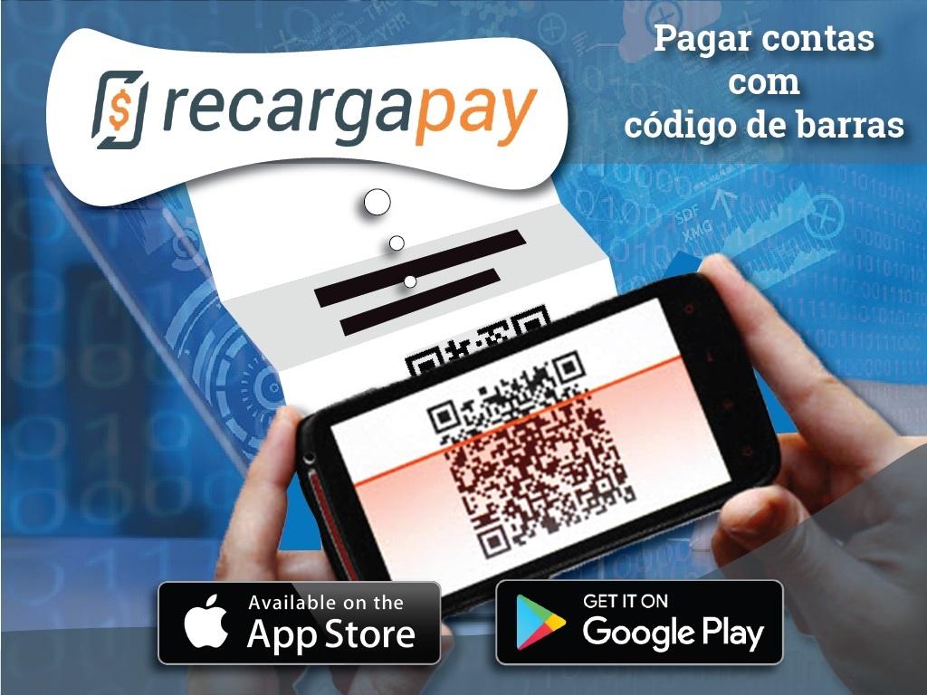 Pagar contas com código de barras com App Recargapay
