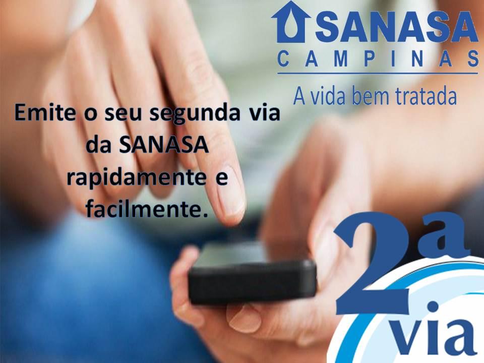 Emitir sua segunda via online pelo página web do Sanasa