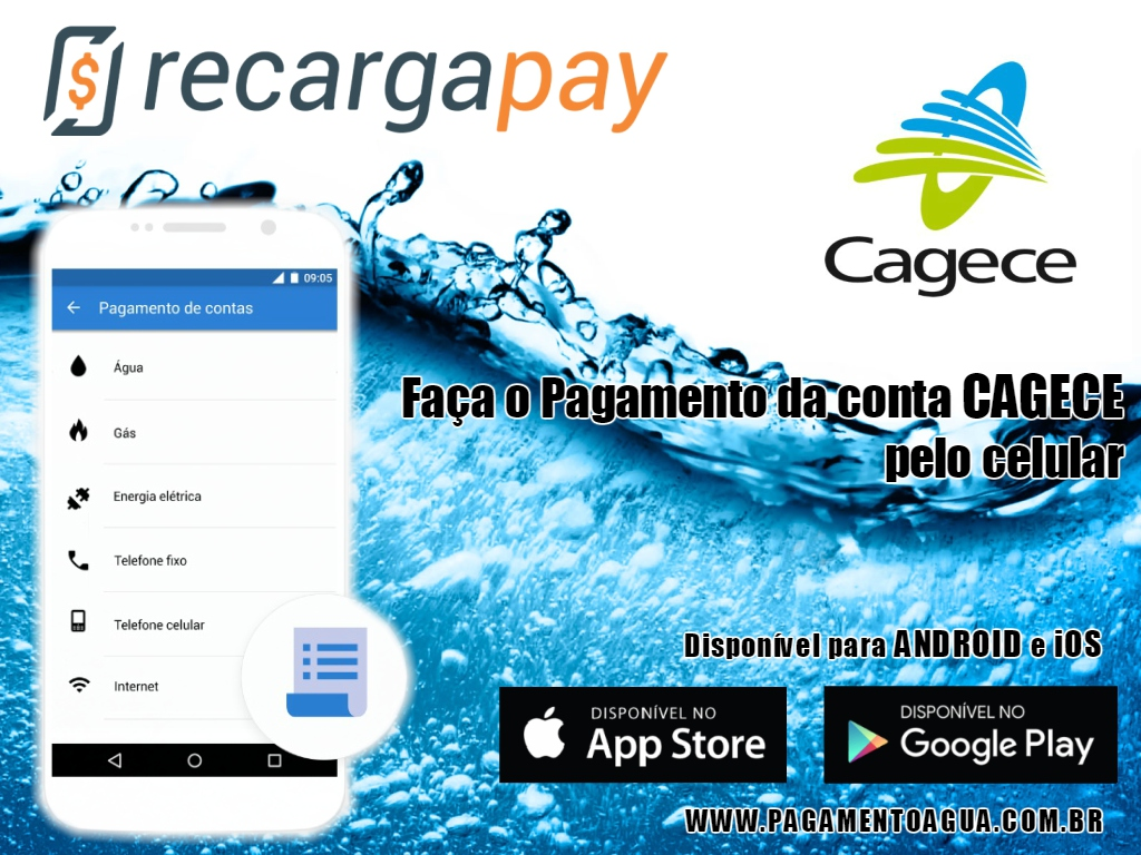 pagamento de sua conta de Cagece pelo celular em Fortaleza