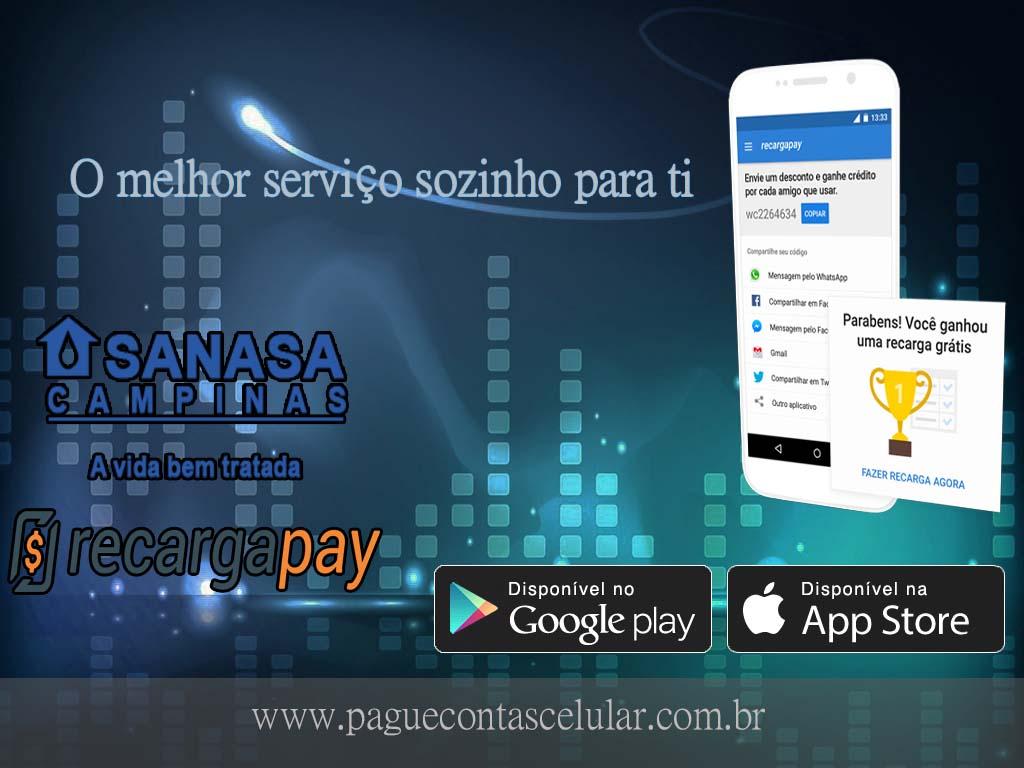 Faz o pagamento de serviço Sanasa pelo celular