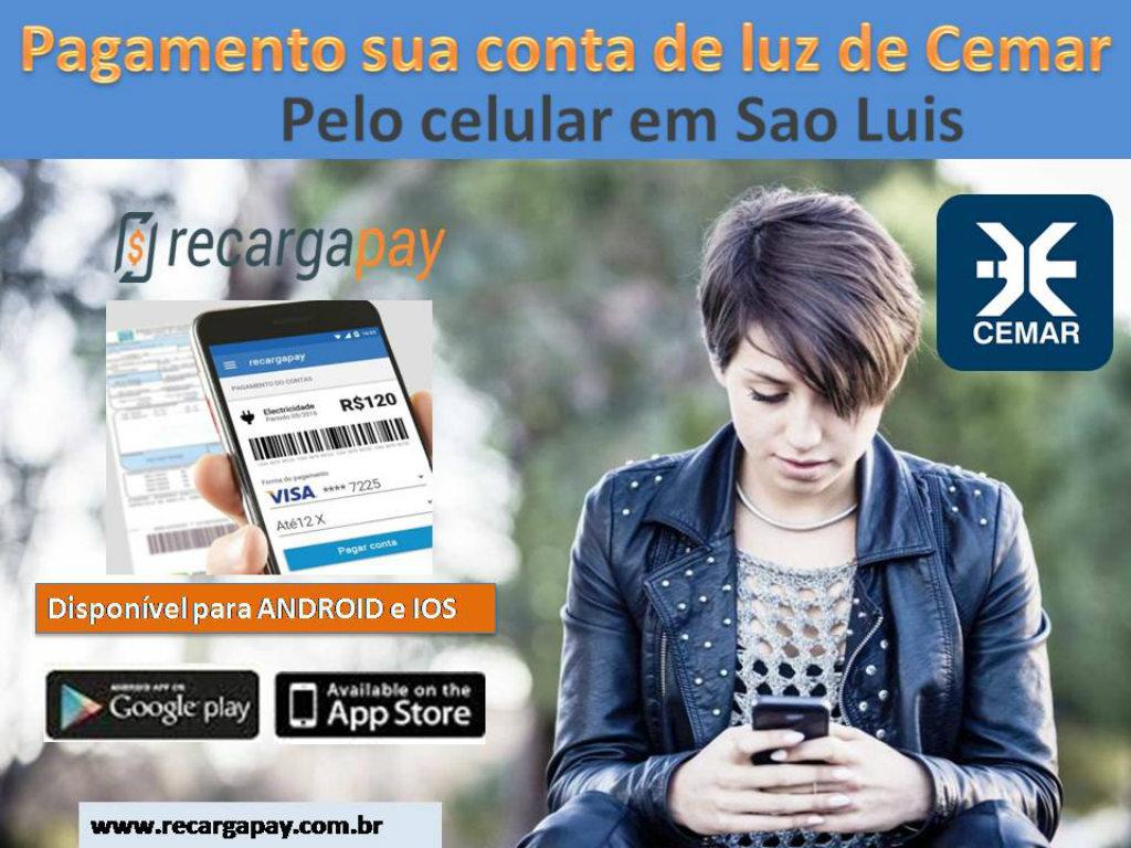 Pagamento conta Cemar em Sao Luis pelo Celular