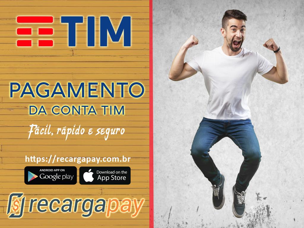 Pague sua conta TIM pelo celular em Rio