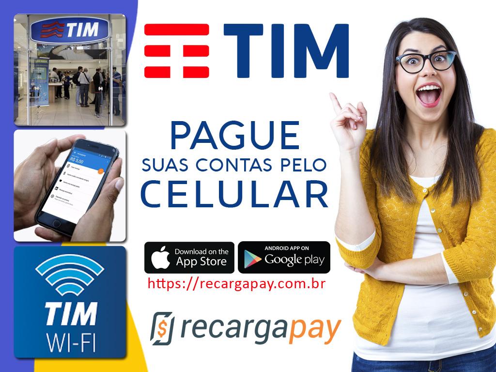 Pague suas contas de TIM pelo celular