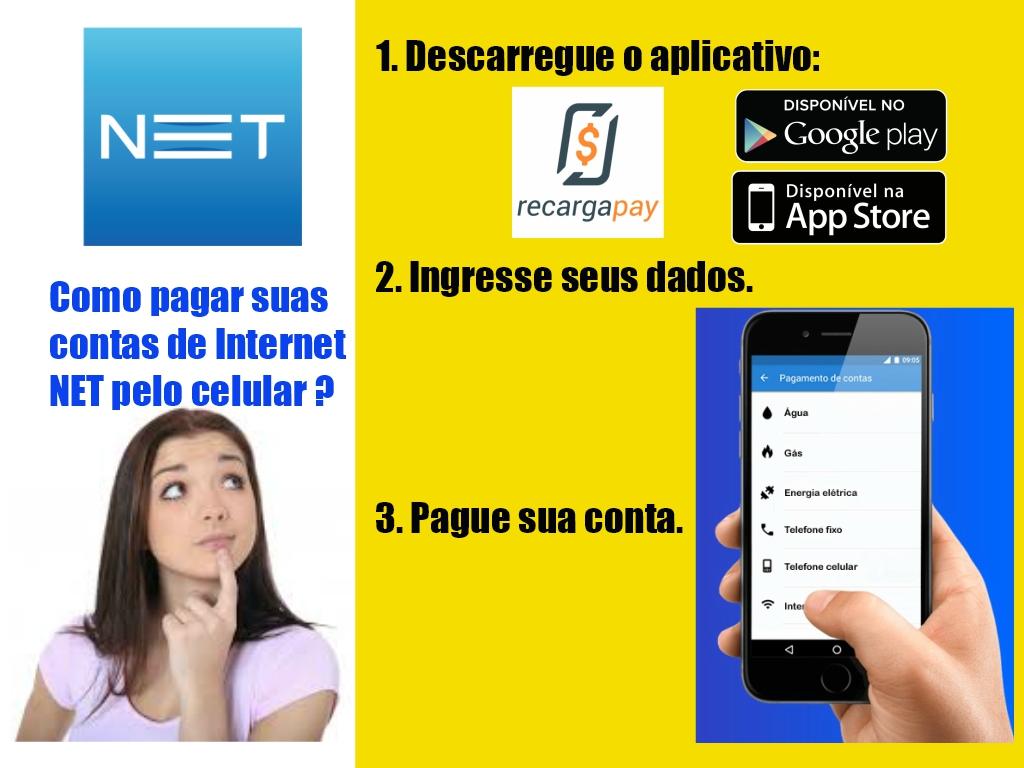 Como pagar suas contas de Internet Net pelo celular