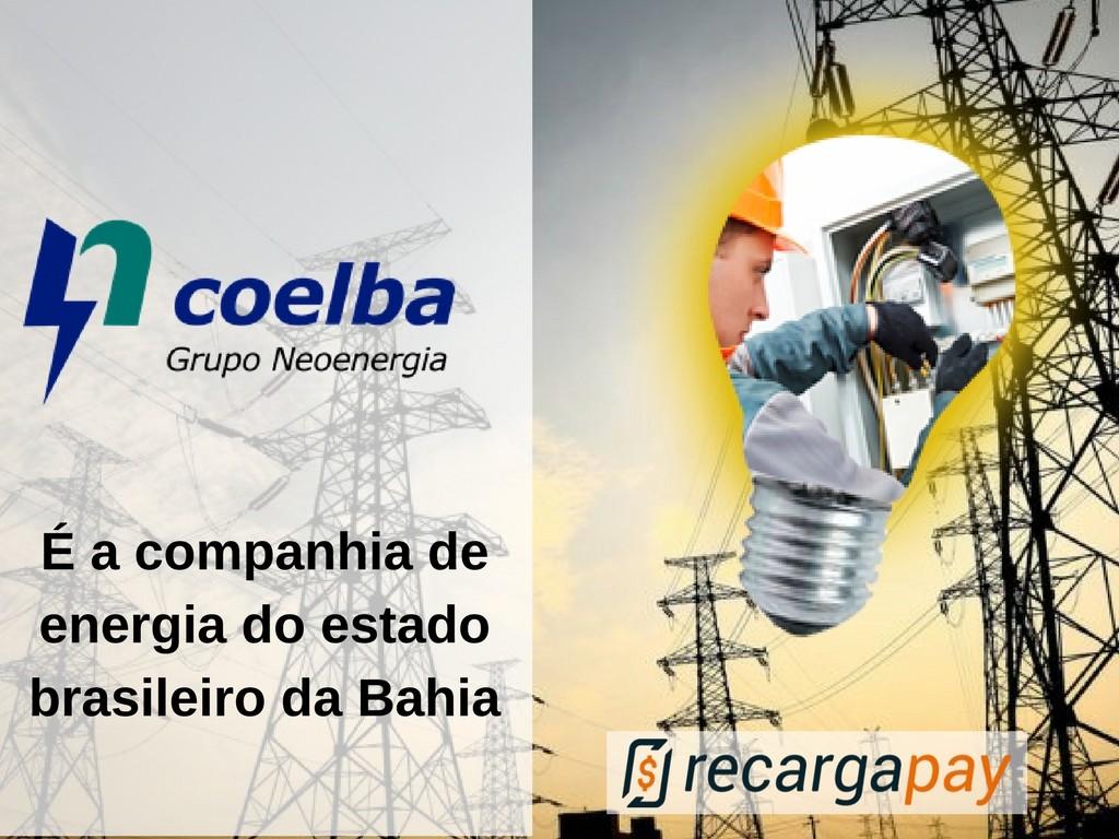 Coelba a Companhia de Eletricidade do estado da Bahia