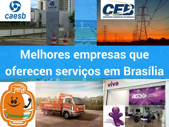 Melhores companhias que ofrecen serviços em Brasilia