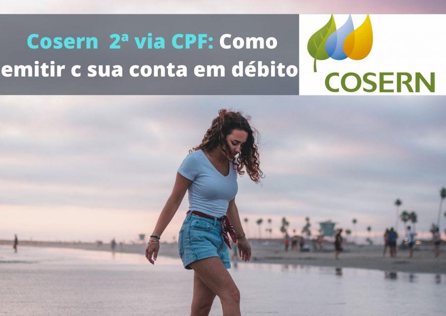 Emitir 2 via Cosern CPF