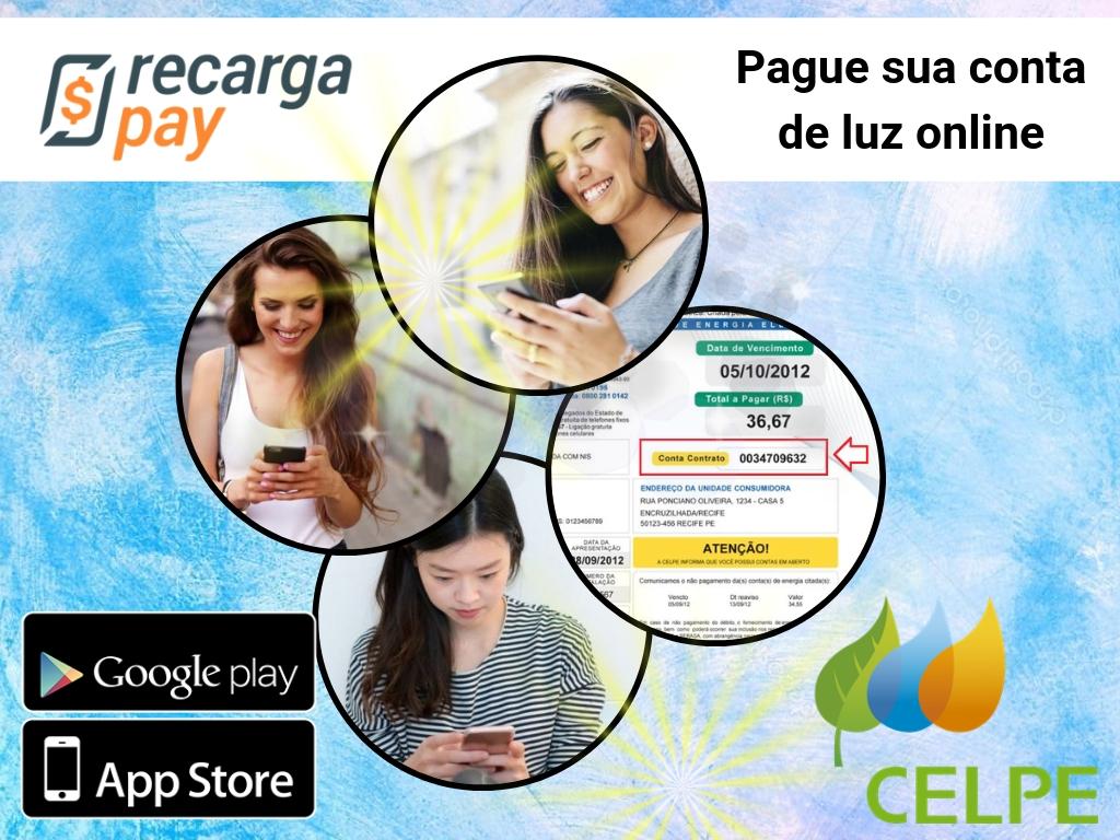 Pague sua Celpe segunda via Pernambuco com Recargapay