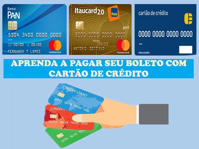 Pague seu boleto com cartão de crédito