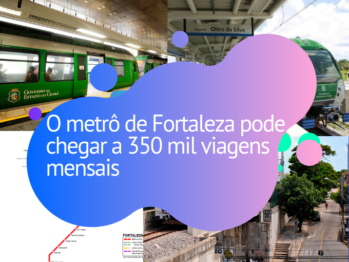 O metrô de Fortaleza pode chegar a 350 mil viagens mensais