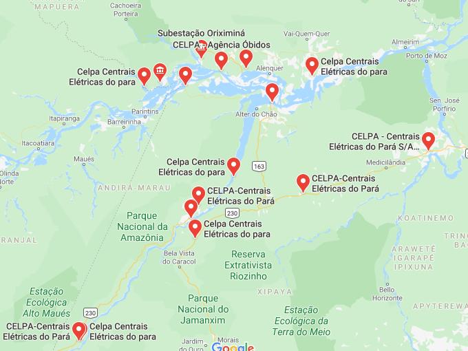 Celpa maps Pará