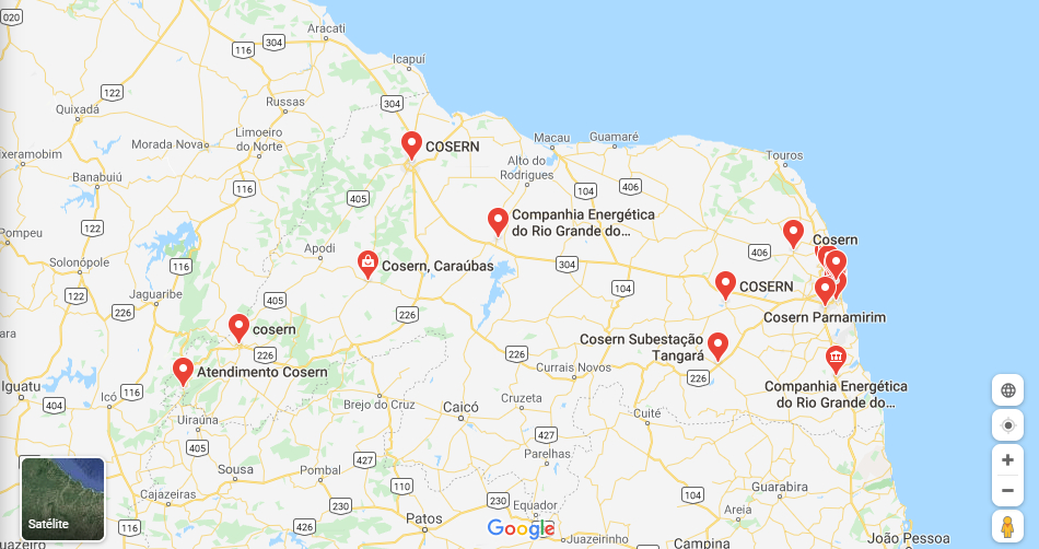 Pague Conta Cosern Maps