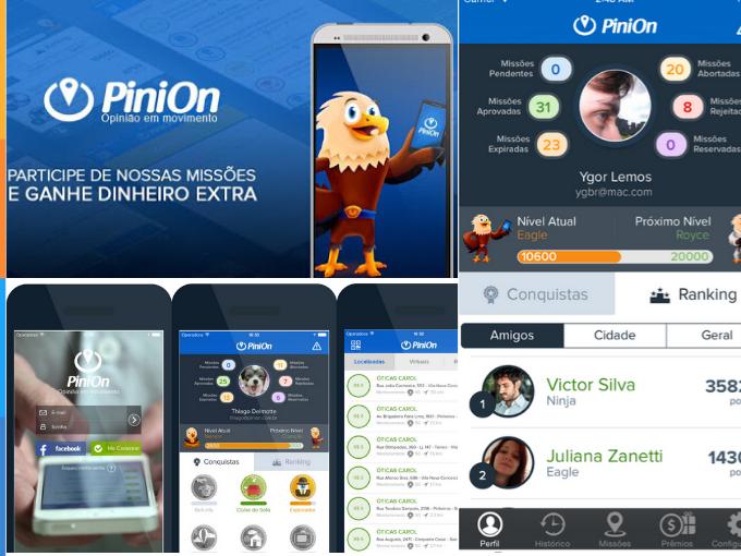 Responde a pesquisas das empresas com PiniOn