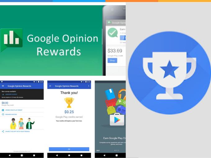 Responde pesquisas com Google Opinion Rewards e ganhe