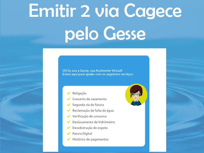 Emitir 2 via Cagece pelo Gesse