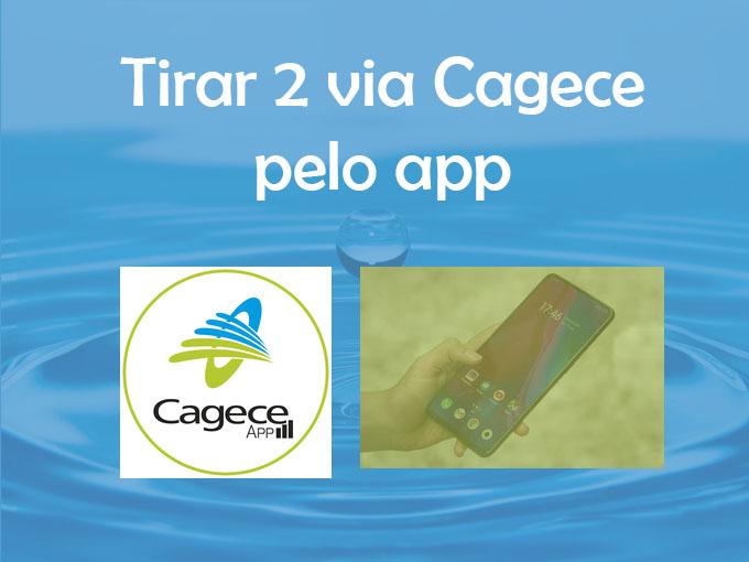 Tirar 2 via Cagece pelo app