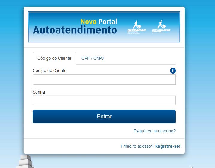 site official portal Ultragaz