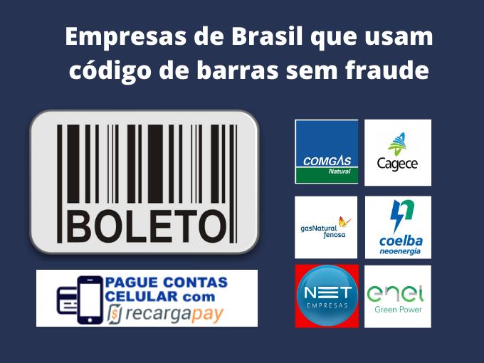 Empresas com pagamento pelo codigo sem fraudes