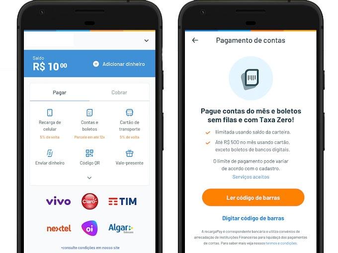 ganhar dinheiro na internet: PagueContas Celular