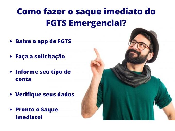 Como fazer o saque imediato do FGTS Emergencial_