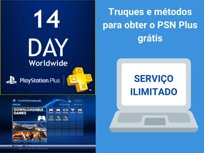 Truques e métodos para obter o PSN Plus grátis