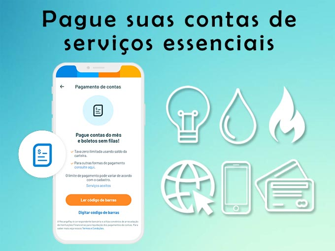 Pague suas contas de serviços essenciais