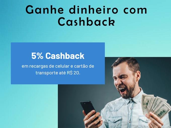 Ganhe dinheiro com Cashback