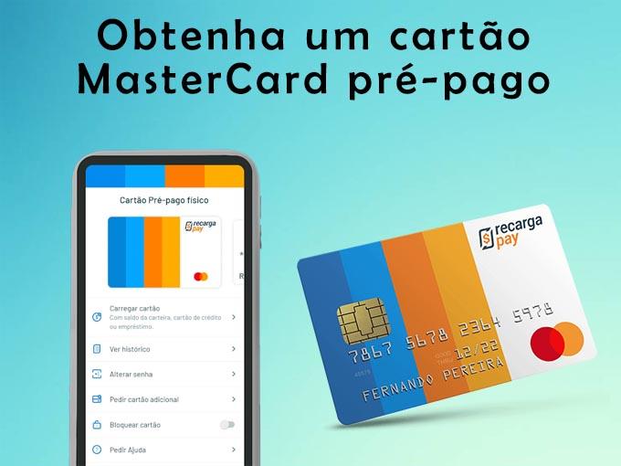 Obtenha um cartão MasterCard pré-pago