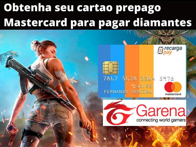 Obtenha seu cartao prepago Mastercard para pagar diamantes