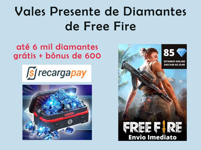 vales presente de diamantes de free fire
