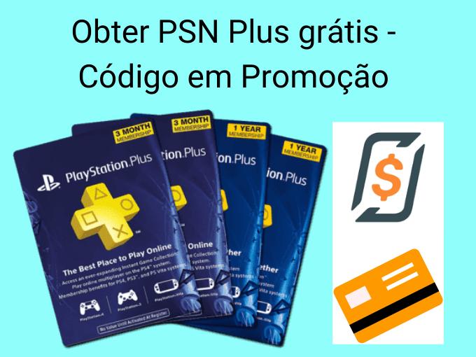 Obter PSN Plus grátis - Código em Promoção