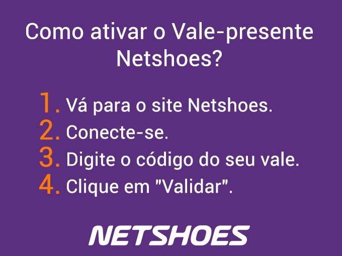Como ativar o Vale presente netshoes