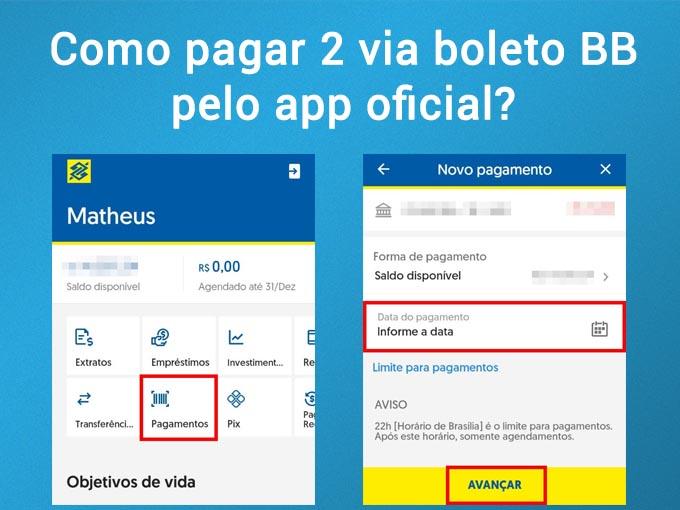 pagar 2 via boleto bb pelo app